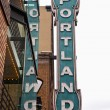 Stock Photo: Portland sign