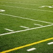 Football field sideline - Stock Photo