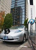 Electric car charging station — Stock Photo