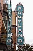 Portland sign — Stock Photo