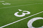 Football field 30 yard line — Stock Photo