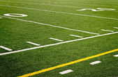 Football field sideline — Stock Photo