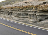 Roadside rock erosion — Stock Photo