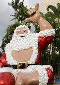 Hawaiian santa — Stock Photo