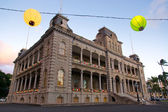 Iolani palace in Holiday Season — Stock Photo
