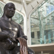 Bronze statue at hawaiian convention center - Stock Photo