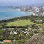 Постер, плакат: Aerial of waikiki hawaii