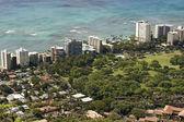 Aerial of Waikiki Beach — Stock Photo