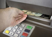 ATM withdrawal — Stock Photo