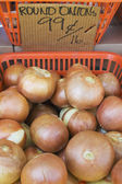 Food at farmers market — Stock fotografie