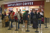 Seattles best coffee airport — Stock Photo