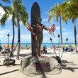 Duke kahanamoke statue waikiki beach — Stock Photo #39201843