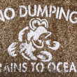 No dumping drains to ocean — Stock Photo #39202681
