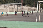 Fotbalový zápas ve střední americe — Stock fotografie