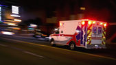 Speeding ambulance — Stock Photo