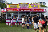 Funnel cakes food stand — Stock Photo