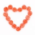 caramelle a forma di cuore — Foto Stock