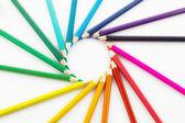 Kleurrijke potlood crayon — Stockfoto