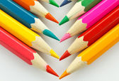 Close-up of colour pens,On white background, — Stock Photo