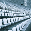 Seat grandstand  watch the games inside the stadium. — Stock Photo