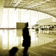 Passengers in the airport interior — Stock Photo #13256680