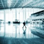 Passengers in the airport interior — Stock Photo