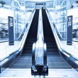 Escalator in modern interior toned — Stock Photo