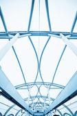 Modern roof inside office center — Stock Photo