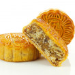Chinese moon cake -- food for Chinese mid-autumn festival — Foto de Stock
