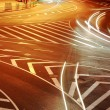 Beautiful light trail at the busy highway — Stock Photo