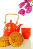 Chinese moon cake -- food for Chinese mid-autumn festival — Stock Photo