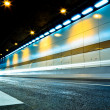 Royalty-Free Stock Photo: The tunnel at night, the lights formed a line