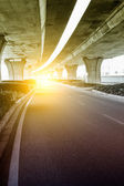 Below the viaduct of the city — Stock Photo
