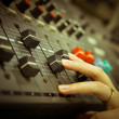 Sound mixer control panel - ストック写真