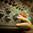 Sound mixer control panel — Stock Photo