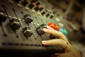 Ses karıştırıcı Denetim Masası — Stok fotoğraf