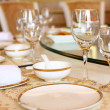 Wedding banquet table details — Stock Photo #13637277