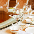 Wedding banquet table details — Stock Photo #13637284