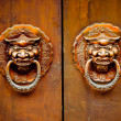 Antique oriental door knocker — Stock Photo