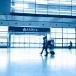 Interior of the shanghai pudong airport,modern indoors blackground. — Stock Photo