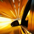 High-speed car in the tunnel, Motion Blur — Stock Photo #19267939