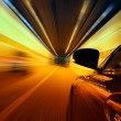 Stock Photo: High-speed car in the tunnel, Motion Blur