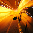 High-speed car in the tunnel, Motion Blur — Stock Photo #19268037