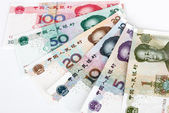 China's currency. Chinese banknotes — Stock Photo