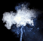 Smoke isolated on a black background — Stock Photo