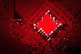 The integrated circuit board — Stock Photo