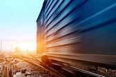Rails under the sky background — Stock Photo