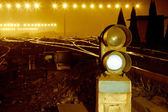在铁路交通灯 — 图库照片