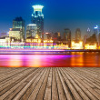 Shanghai, China, the Bund and the Huangpu River. — Stock Photo