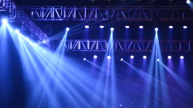 Vector Stage Spotlight with Laser rays — Stock Video
